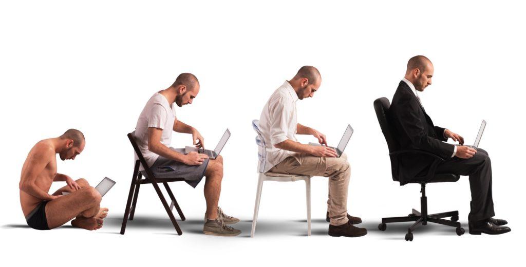 evolution-sitting-down